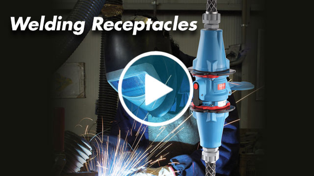 Meltric welding receptacles